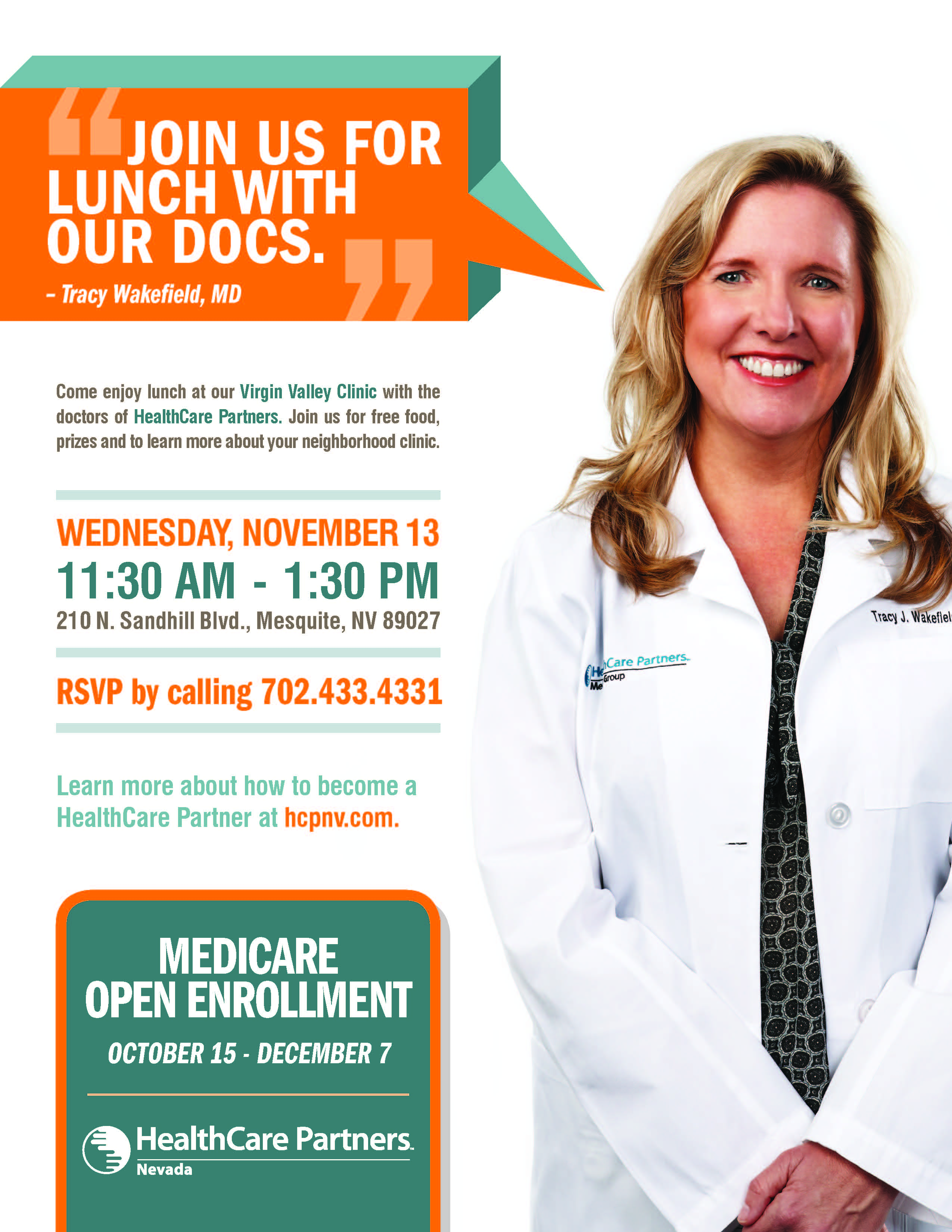 Healthcare Partners open house and Medicare info today