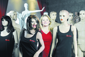 Alison Wainwright, founder and CEO of Las Vegas Mannequins, poses in the company warehouse at 3900 W. Desert Inn Road in Las Vegas on Tuesday, Nov. 19, 2013. (Bill Hughes/Las Vegas Review-Journal)