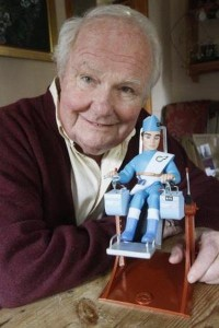 "Rimmer with his alterego ""Scott Tracy"" from ""Thunderbirds"" appeared in the Barnet & Potters Bar Times, UK, in 2010."