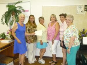 Maggie Calhoun GMAF, Teri Nehrenz VVTG, Bunny Wiseman for MSMP, Barbara Withelder VVAA, Vicki Eckman MTTT, Gail Ashdown MAC. Submitted photo.