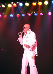 """Mesquite resident Claude """"Doc' Nielsen once ditched his wig to show the crowd at Elvis Rocks Mesquite what Elvis would likely look like if he were alive today. Submitted photo."""