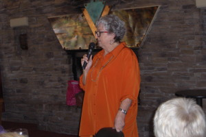 Local author and historian Geraldine Zarate speaks to the attendees of the Desert Dames' luncheon on May 28. Submitted photo.
