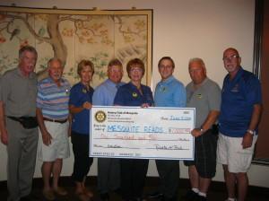 Members of the Rotary Club of Mesquite, left to right: Ivan Ketterman, treasurer; Joe Woodward; Linda Gault, president-elect; Jeff Bird; Robert Bird, president; Ron Bird; John Berard; and Jake Noll. Submitted photo.
