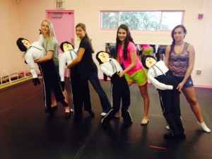 "Dancers practice ""Beauty and the Beast"", left to right:  Talia, Brianna, Tori and Britney. Submitted photo."