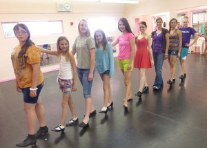 "KOS dancers practice their tap dance for ""Step in Time"" in the KOS Disney Spectacular. Submitted Photo."