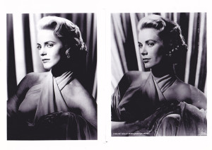 Side by side, Cheryl Ladd (L) and Grace Kelly. Photo provided by publicist.