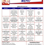 Senior Center Menu July 2014