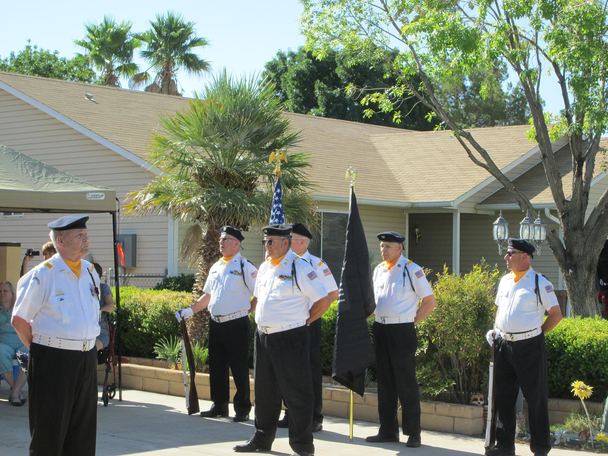 Community and Honor Guard gather to honor one of Mesquite's Veterans