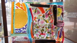 Margen Fritts creates confetti and light in her fused glass decoratives
