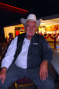 "Beaver Dam resident and veteran Chuck Embree enjoys listening to the Nevada Pops while waiting for the fireworks to begin on July 4, 2014 at the Eureka's ""Rockets over the Red Mesa"". Photo by Teri Nehrenz."