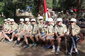 Morning assembly at Kolob Scout Camp