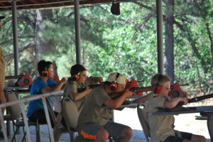 The Rifle Range is a place for the Scouts to learn about gun safety, how to properly handle and fire the rifle.