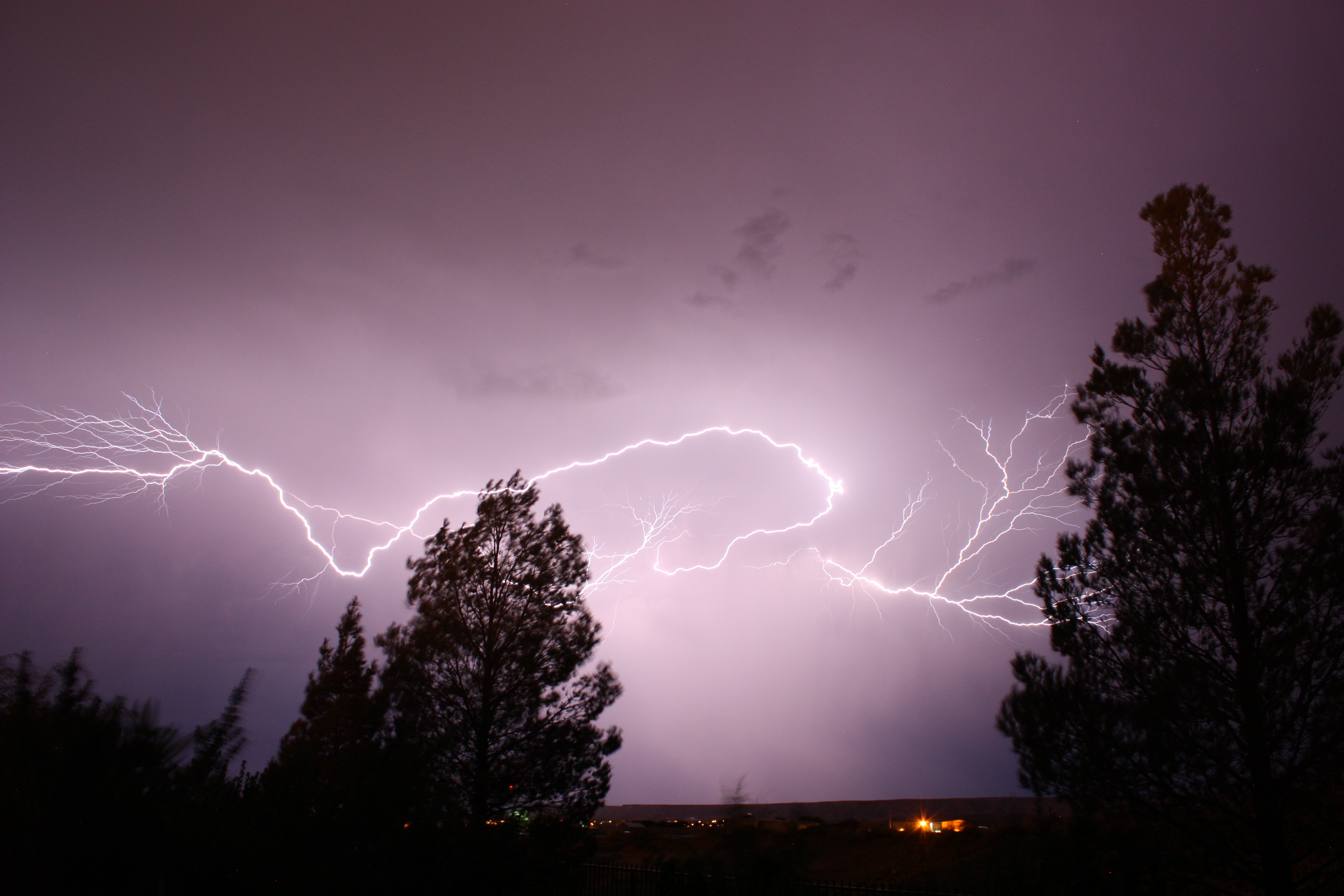 Mother Nature competes for best light show over holiday weekend