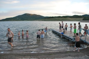 Kolob Reservoir was a place of relaxation and fun with fellow Scouts and leaders.