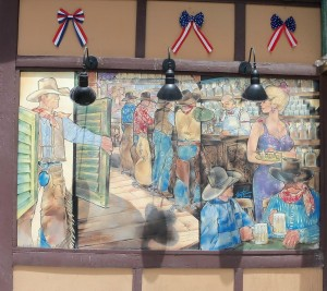 Public mural in downtown Ely, Nevada - July 2104