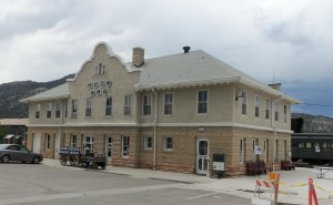Classic depot of the Nevada Northern Railway, Ely, Nevada - July 2014