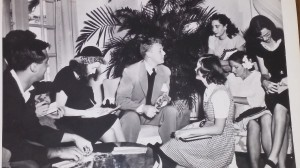 Van Johnson in the 1940's surrounded by fans. Photo provided by Michael C. Luckman