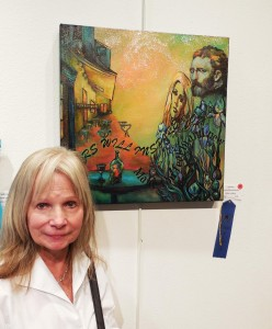 Kathy Ludwig won the blue ribbon for Stardust.  Her unique style makes her a perennial winner in VVAA competitions.