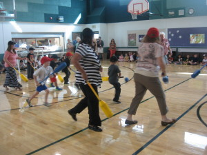 Students and Teachers playing indoor hockey. Submitted photo.