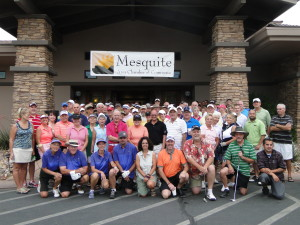 Just a handful of the 144+ players that showed up to golf in the 9th Annual Mesquite Chamber Golf Tournament. Photo by Kathy Lee.