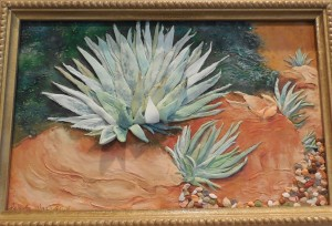 New VVAA member Patricia Nay offers her polymer clay art, Desert Beauty.