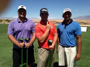 Left to right: Miles Mulkey ($400), 406 yards. Richard Moore ($1000), 412 yards. Ruben Carmona ($600), 409 yards. Photo by Kimberly Cazier