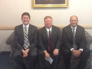 From left to right, Chris Garner, Brian Wursten and Mike Morgan. Submitted photo.