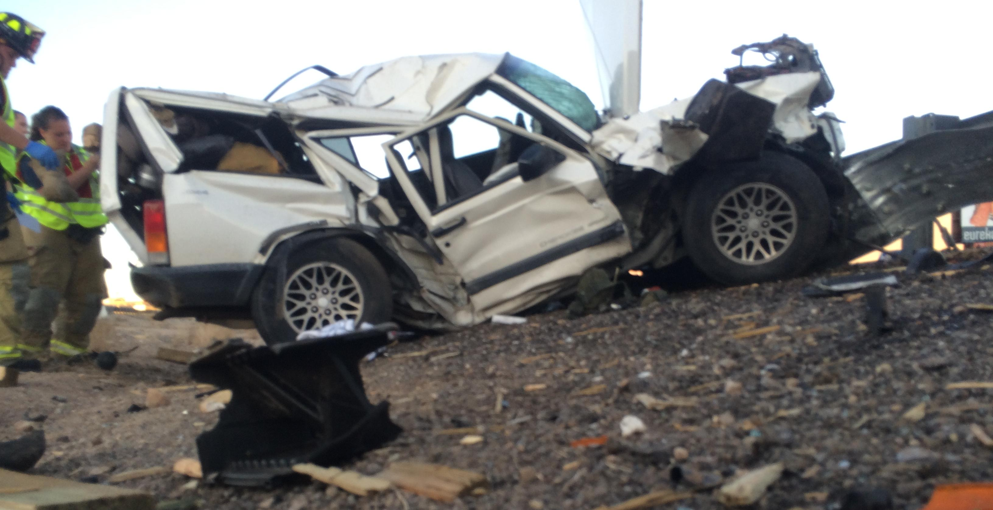Family Members Escape Interstate Crash That Destroys SUV