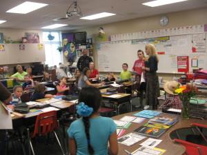 Parents visiting third grade class of Mrs. Sandy Andrus