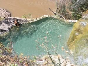 Little Jamaica swimming hole above the Virgin River, near Littlefield, AZ - September 2014