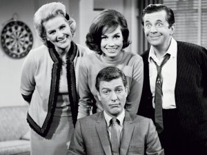 With cast of The Dick Van Dyke Show