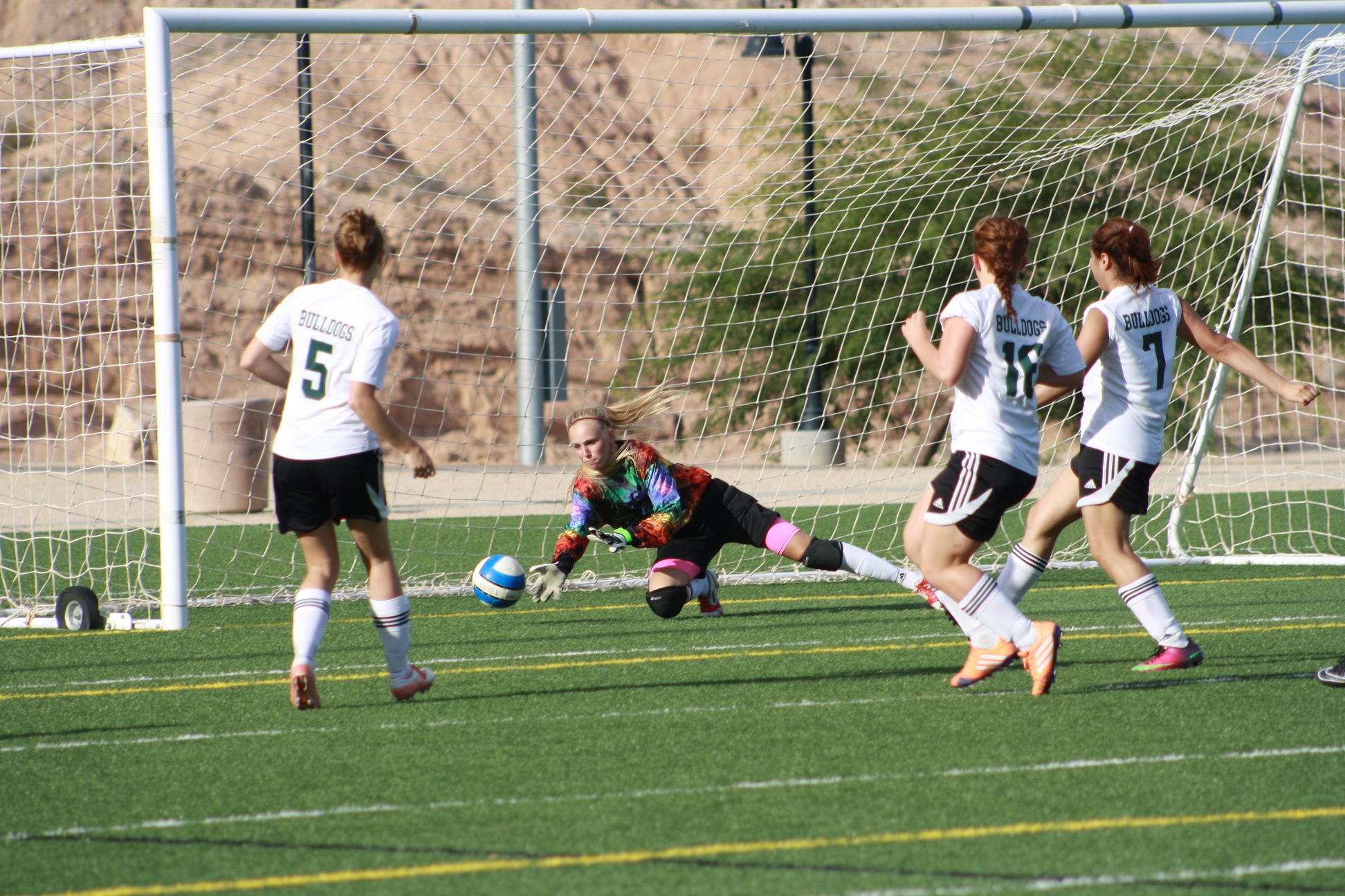 Bulldog soccer gals go 1-1-1 in Mesquite Cup