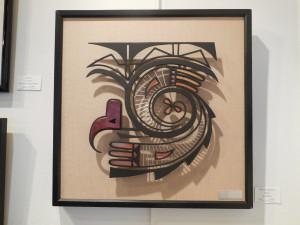 Lee Moses of Boulder City displayed metalwork, Rainbird Spirit II, in 2013 Mesquite Fine Arts Invitational.