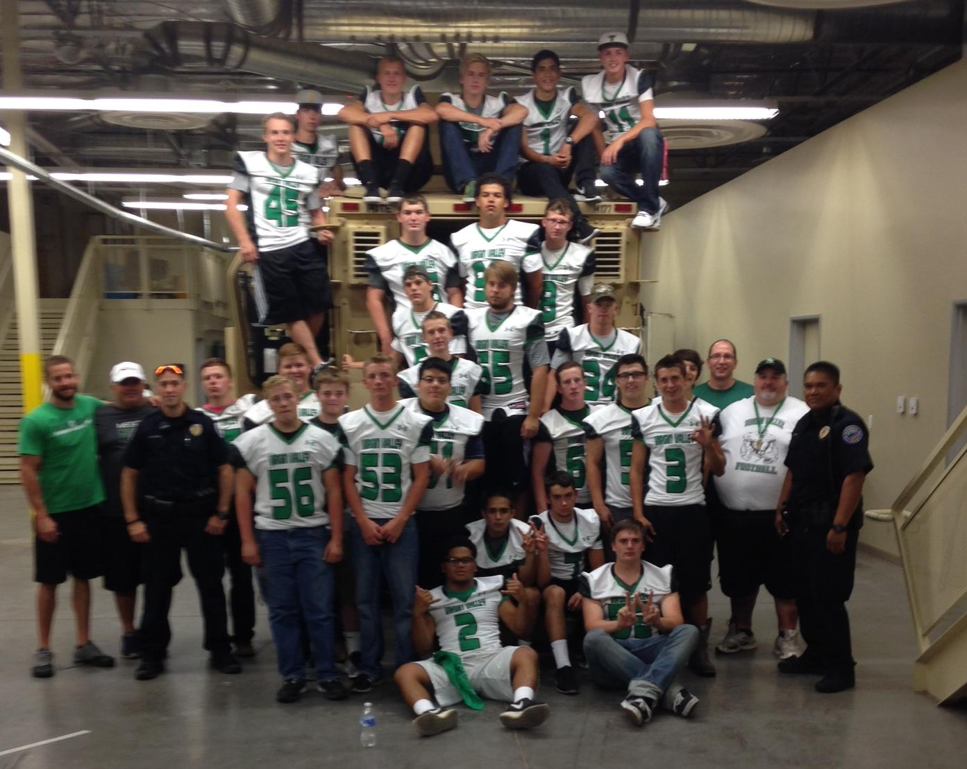 VVHS Football Team provides community services