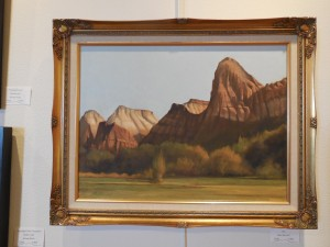 The incomparable oil paintings by Max Bunnell of Moapa Valley was displayed in 2013 Mesquite Invitational.