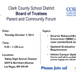 CCSD to hold Parent and Community Forum in Las Vegas