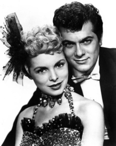 Tony Curtis and Janet Leigh publicity photo for Houdini in 1953