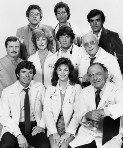 Cast of St. Elsewhere Norman LLoyd center right