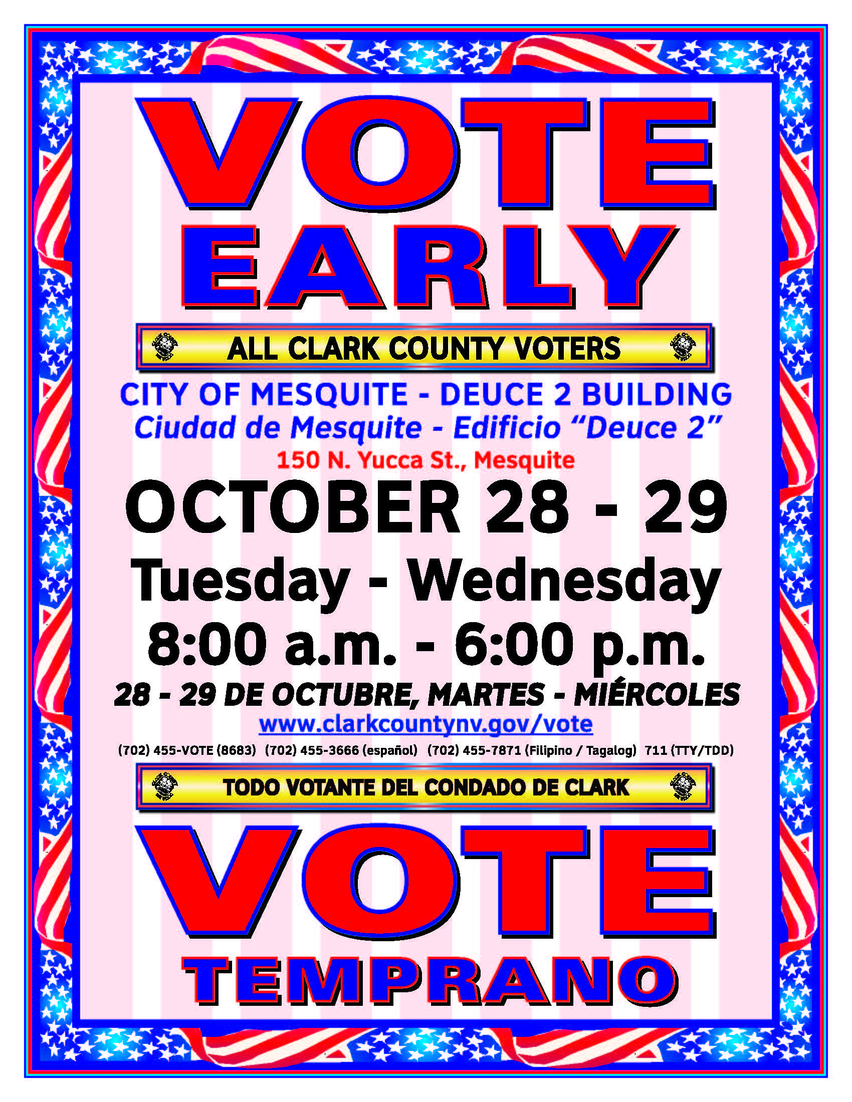 Early Voting Today and Tomorrow