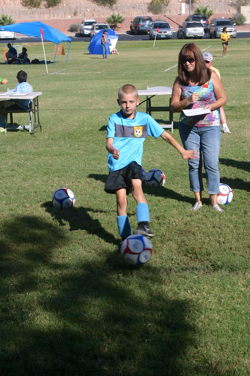 Mesquite Youth Participate in Elks Soccer Shoot