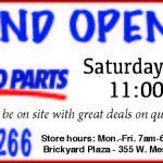 NAPA Auto Parts Plans Grand Opening