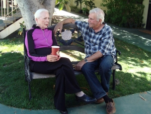 Barbara Bain and Alex Rocco on the set of Silver Skies Photo provided by Executive Producer Nestor Rodriguez.