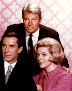 Barbara Bain with Peter Graves and Martin Landau from Mission Impossible.