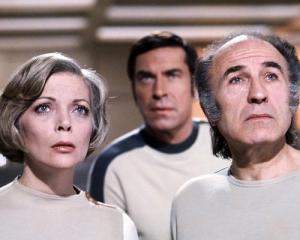 Barbara Bain, Martin Landau, and Barry Morse in Space 1999