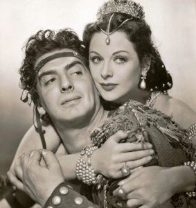 4. Publicity photo with Victor Mature from Sampson and Delilah