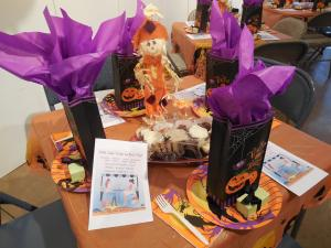 Festive holiday table setting was accented by individual goodie bags and Danielles chocolates