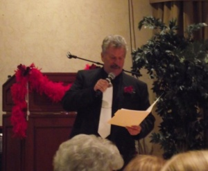 """Larry LeMieux was the Auctioneer for the evening's event """"Puttin on the Ritz"""" in February of 2012."""