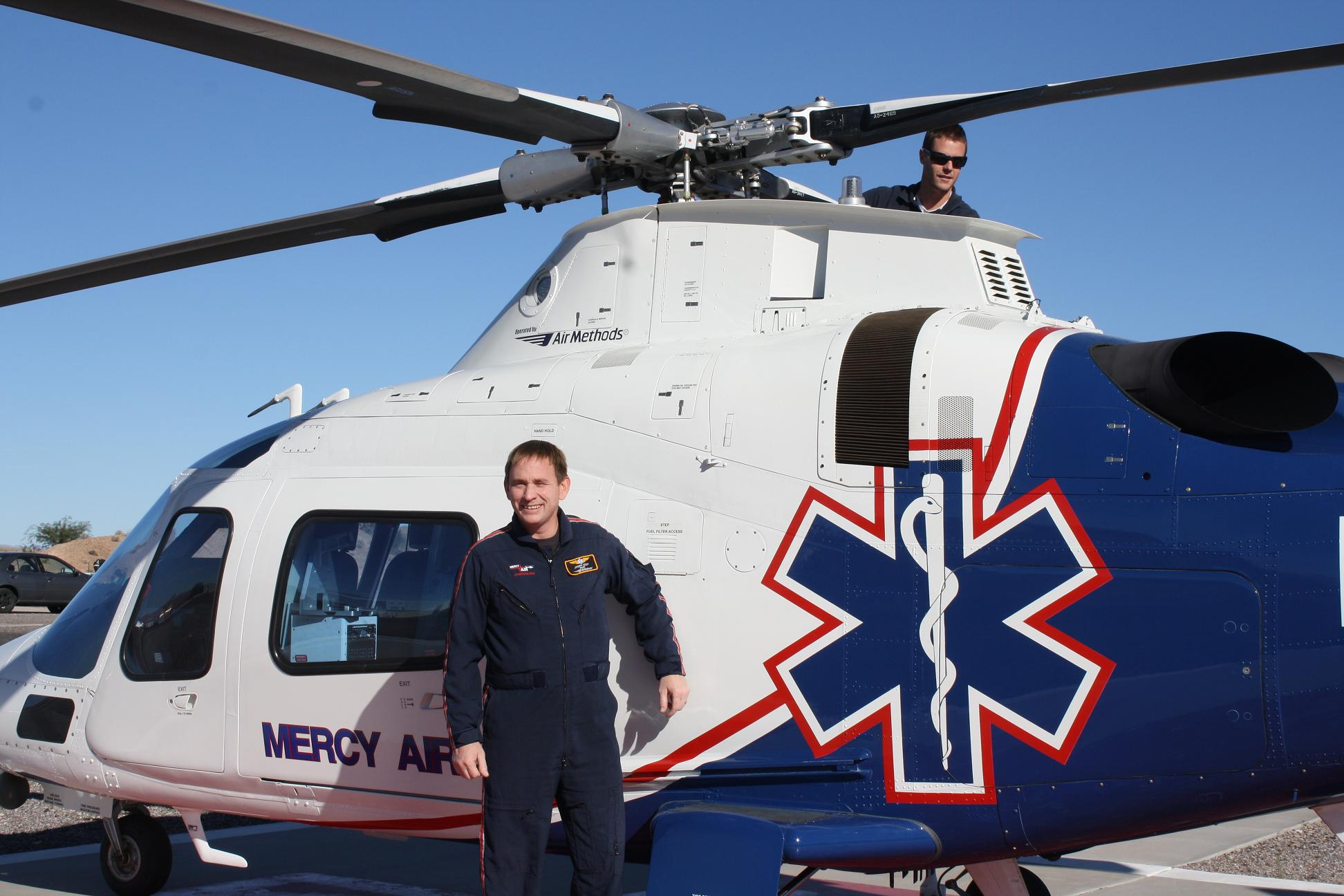 Mercy Air Mesquite branch receives new helicopter