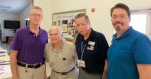 Shown in the photo are Stephen Ministers, Bruce Reid and Jim Norris; Guest Speaker, James P. Brown, HMC, FMF, USN (Ret.); and Rich Killian, Stephen Ministry Leader. Submitted photo.