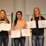 Bulldog soccer gals and coach honored at annual banquet